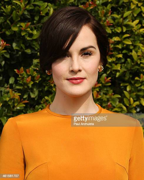 Actress Michelle Dockery attends the LoveGold event a celebration of Gold and Glamour at the Chateau Marmont on January 9 2014 in Los Angeles...