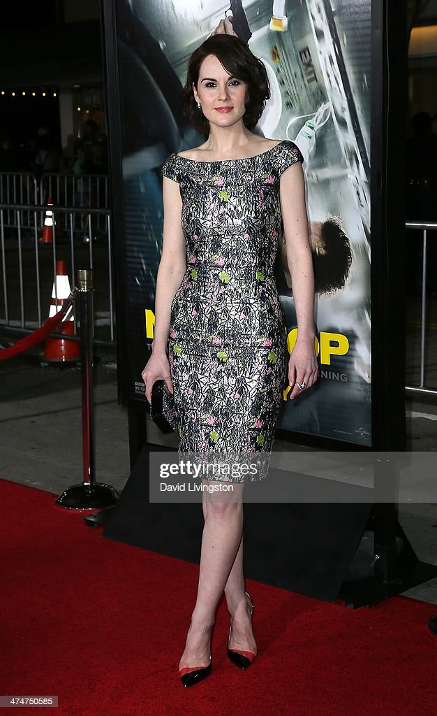 Actress <a gi-track='captionPersonalityLinkClicked' href=/galleries/search?phrase=Michelle+Dockery&family=editorial&specificpeople=4047702 ng-click='$event.stopPropagation()'>Michelle Dockery</a> attends the premiere of Universal Pictures and Studiocanal's 'Non-Stop' at the Regency Village Theatre on February 24, 2014 in Westwood, California.