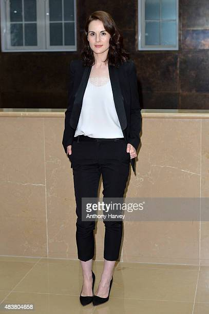 Actress Michelle Dockery attends the press launch of 'Downton Abbey' at May Fair Hotel on August 13 2015 in London England