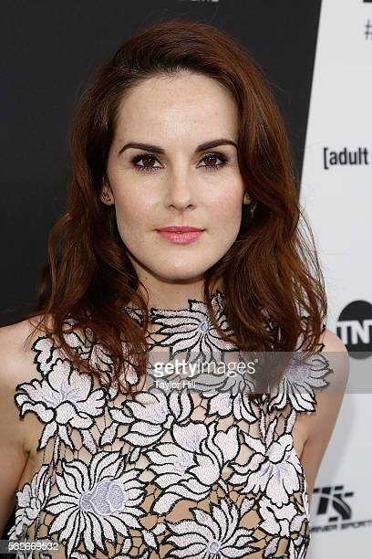 Actress Michelle Dockery attends the Turner Upfront 2016 arrivals at The Theater at Madison Square Garden on May 18 2016 in New York City