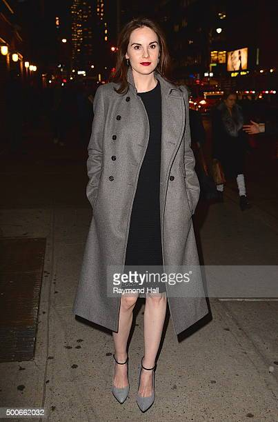 Actress Michelle Dockery is seen in Midtown on December 9 2015 in New York City
