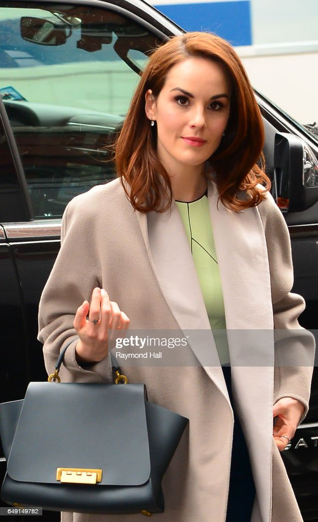 Actress Michelle Dockery is seen walking in Midtown on March 7, 2017 in New York City.