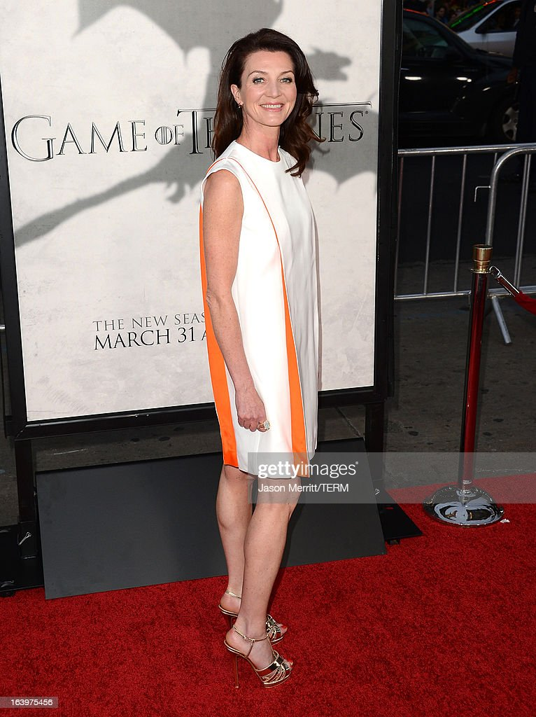 Actress Michelle Fairley arrives at the premiere of HBO's 'Game Of Thrones' Season 3 at TCL Chinese Theatre on March 18, 2013 in Hollywood, California.