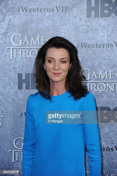 Actress Michelle Fairley arrives at the San Francisco Premiere For HBO's 'Game Of Thrones' Season 3 at Palace Of Fine Arts Theater on March 20 2013...