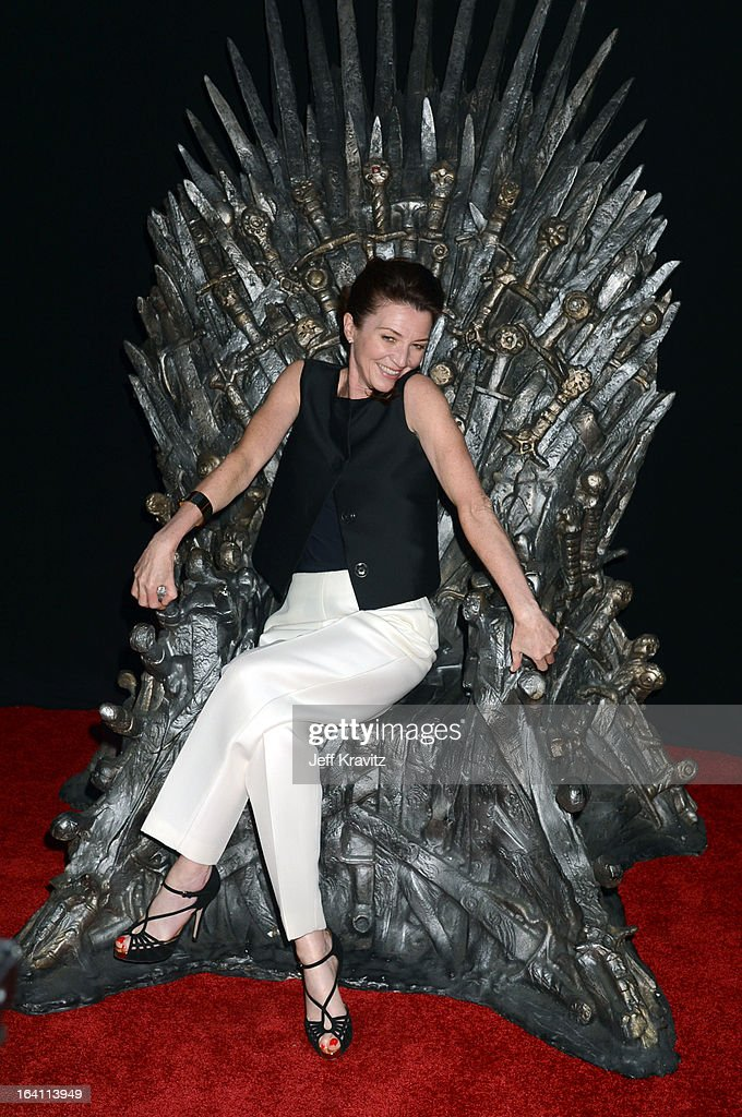 Actress Michelle Fairley attends the Academy of Television Arts & Sciences an evening with HBO's 'Game Of Thrones' at TCL Chinese Theatre on March 19, 2013 in Hollywood, California.