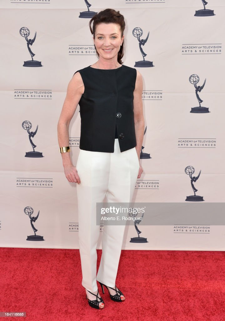 Actress Michelle Fairley attends The Academy of Television Arts & Sciences' Presents An Evening With 'Game of Thrones' at TCL Chinese Theatre on March 19, 2013 in Hollywood, California.
