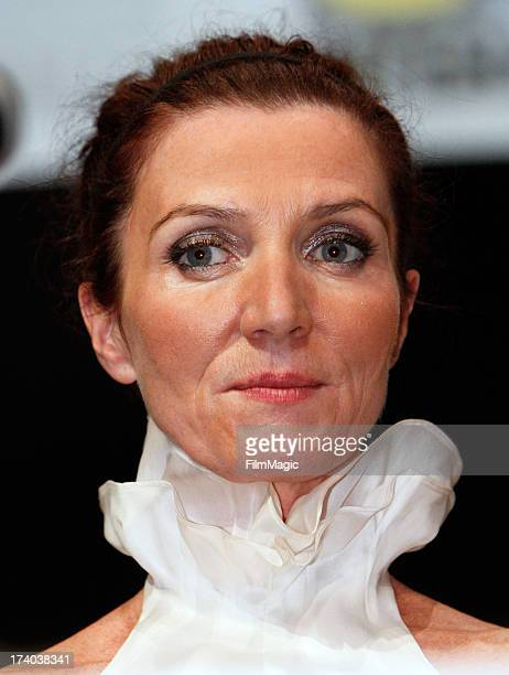 Actress Michelle Fairley speaks at HBO's 'Game Of Thrones' panel at San Diego Convention Center on July 19 2013 in San Diego California