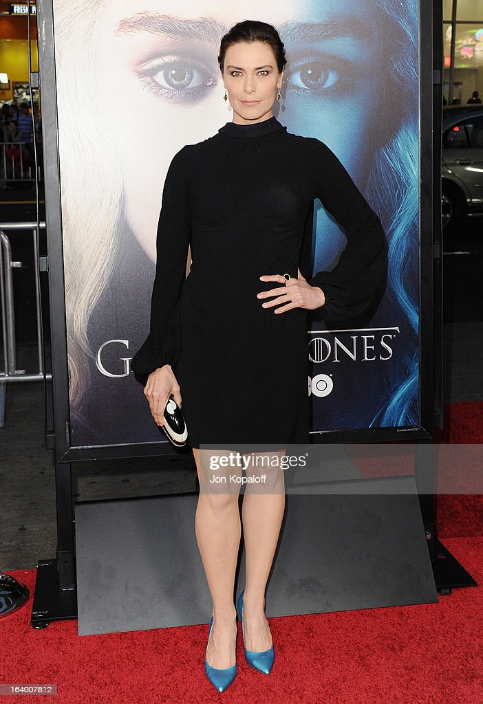 Actress Michelle Forbes arrives at the Los Angeles Premiere of HBO's 'Game Of Thrones' Season 3 at TCL Chinese Theatre on March 18, 2013 in Hollywood, California.