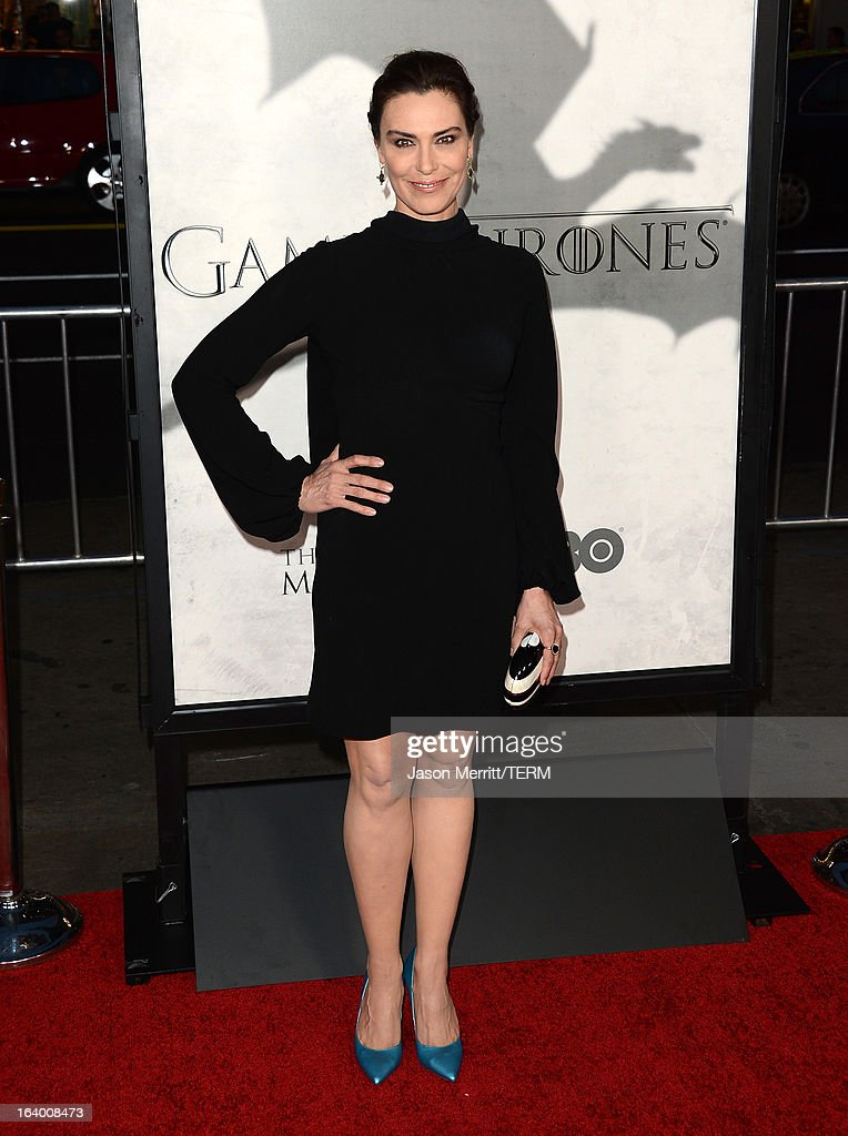 Actress Michelle Forbes arrives at the premiere of HBO's 'Game Of Thrones' Season 3 at TCL Chinese Theatre on March 18, 2013 in Hollywood, California.