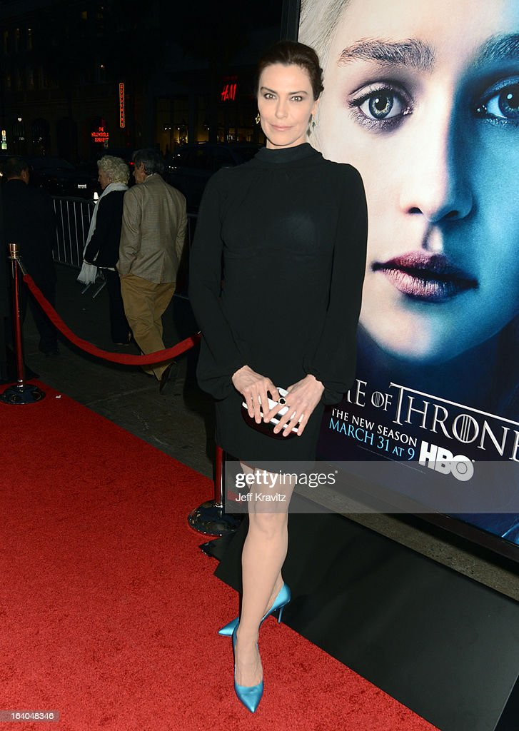 Actress Michelle Forbes arrives to HBO's 'Game Of Thrones' Los Angeles Premiere at TCL Chinese Theatre on March 18, 2013 in Hollywood, California.