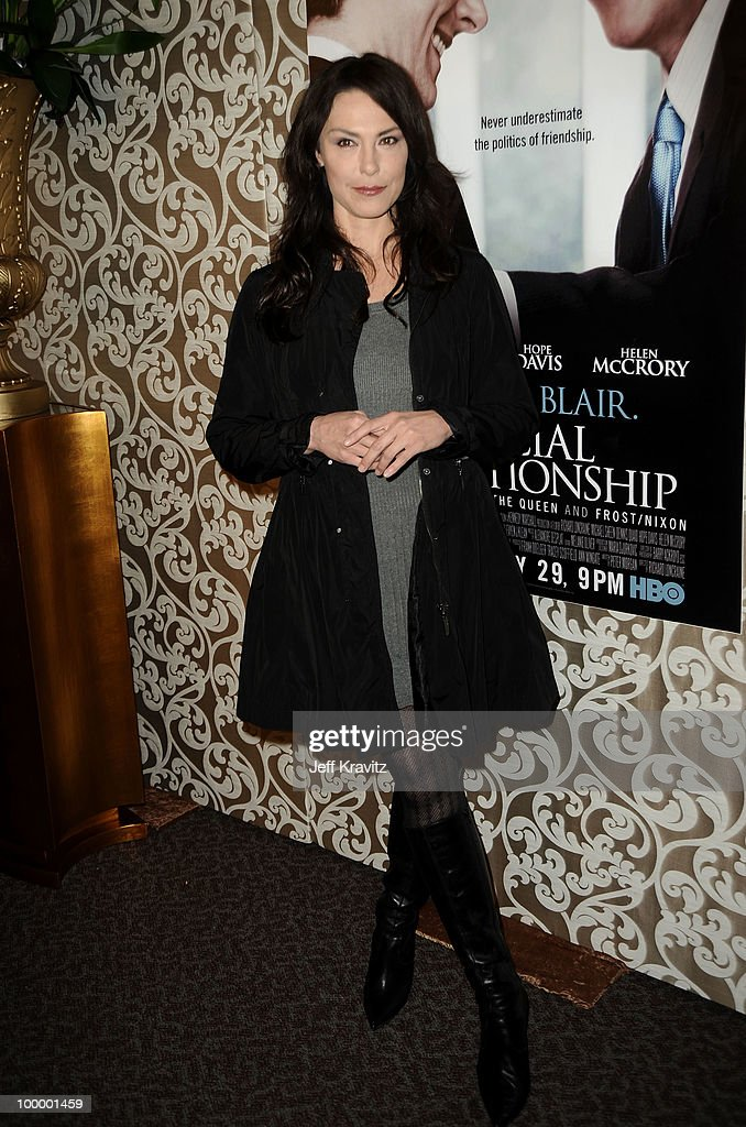 Actress Michelle Forbes arrives to the HBO premiere of 'The Special Relationship' held at Directors Guild Of America on May 19, 2010 in Los Angeles, California.