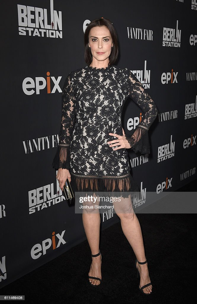 Actress Michelle Forbes attends EPIX 'Berlin Station' LA premiere at Milk Studios on September 29, 2016 in Los Angeles, California.