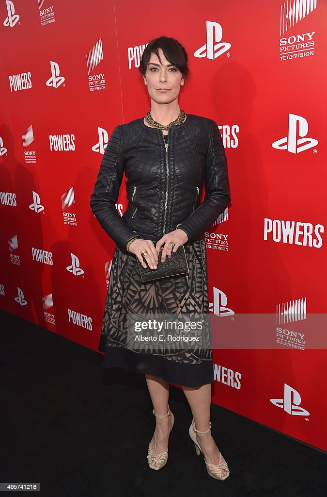 Actress Michelle Forbes attends the series premiere of Sony Television's 'Powers' at Sony Pictures Studios on March 9 2015 in Culver City California