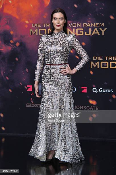 Actress Michelle Forbes attends the world premiere of the film 'The Hunger Games Mockingjay Part 2' at CineStar on November 4 2015 in Berlin Germany