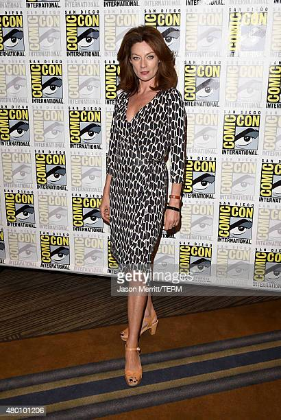 Actress Michelle Gomez attends the BBC America 'Doctor Who' photo call during ComicCon International 2015 at the Hilton Bayfront on July 9 2015 in...