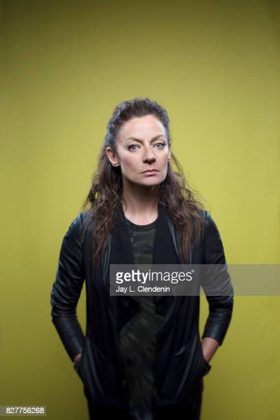 Actress Michelle Gomez from the television series 'Doctor Who' is photographed in the LA Times photo studio at ComicCon 2017 in San Diego CA on July...