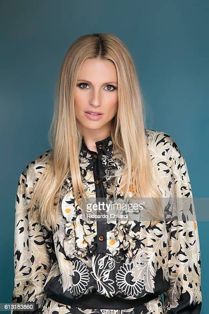 Actress Michelle Hunziker is photographed for Self Assignment on September 4 2016 in Venice Italy