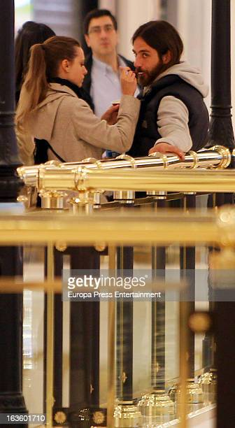 Actress Michelle Jenner and her boyfriend are seen on March 12 2013 in Madrid Spain