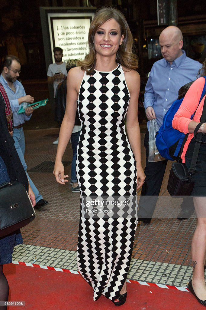Actress <a gi-track='captionPersonalityLinkClicked' href=/galleries/search?phrase=Michelle+Jenner&family=editorial&specificpeople=4388105 ng-click='$event.stopPropagation()'>Michelle Jenner</a> is seen arriving to 'Nuestros Amantes' premiere at Palafox Cinema on May 30, 2016 in Madrid, Spain.