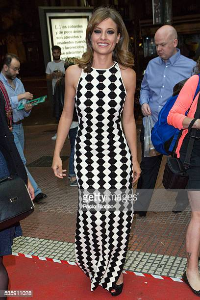 Actress Michelle Jenner is seen arriving to 'Nuestros Amantes' premiere at Palafox Cinema on May 30 2016 in Madrid Spain