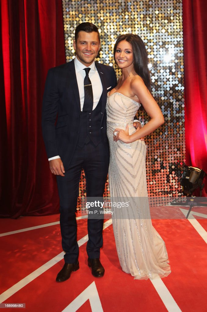 Actress <a gi-track='captionPersonalityLinkClicked' href=/galleries/search?phrase=Michelle+Keegan&family=editorial&specificpeople=4957673 ng-click='$event.stopPropagation()'>Michelle Keegan</a> and Mark Wright attend the British Soap Awards at Media City on May 18, 2013 in Manchester, England.