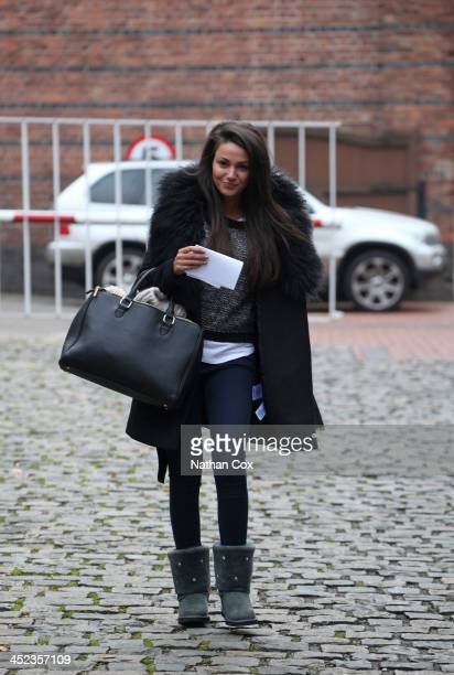 Actress Michelle Keegan is sighted at the Coronation Street gate on November 28 2013 in Manchester England