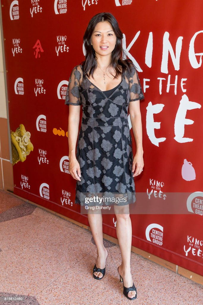 Actress Michelle Krusiec attends the opening night of 'King Of The Yees' at the Kirk Douglas Theatre on July 16, 2017 in Culver City, California.