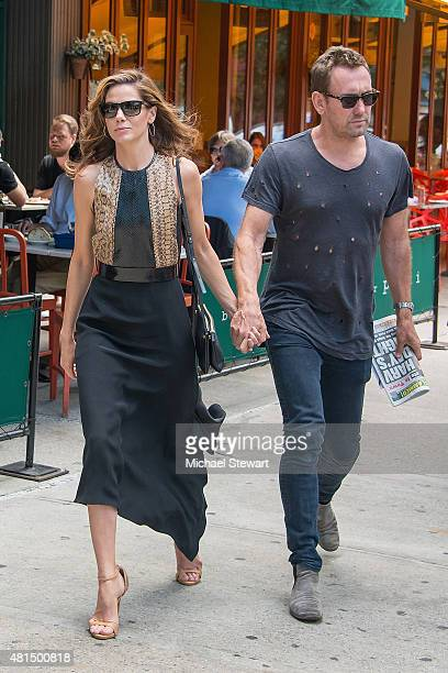 Actress Michelle Monaghan and Peter White seen in the West Village on July 21 2015 in New York City