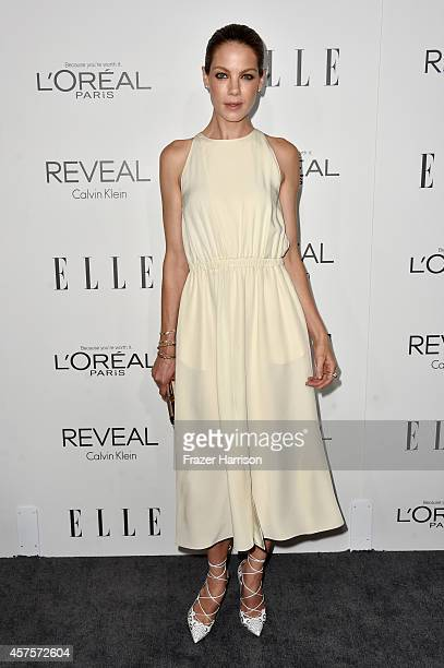Actress Michelle Monaghan arrives at ELLE's 21st Annual Women In Hollywood at Four Seasons Hotel Los Angeles at Beverly Hills on October 20 2014 in...