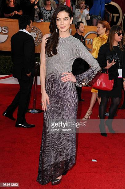 Actress Michelle Monaghan arrives at the 16th Annual Screen Actors Guild Awards held at The Shrine Auditorium on January 23 2010 in Los Angeles...