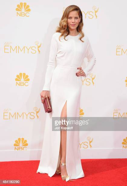 Actress Michelle Monaghan arrives at the 66th Annual Primetime Emmy Awards at Nokia Theatre LA Live on August 25 2014 in Los Angeles California