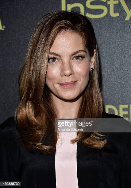 Actress Michelle Monaghan arrives at The Hollywood Foreign Press Association and InStyle's 2015 Golden Globe Award Season celebration at Fig Olive...
