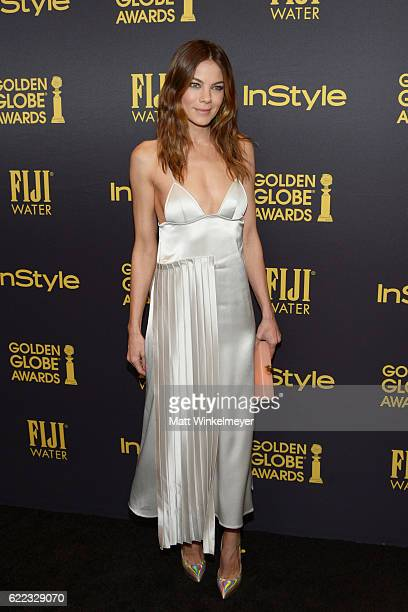 Actress Michelle Monaghan arrives at the Hollywood Foreign Press Association and InStyle celebrate the 2017 Golden Globe Award Season at Catch LA on...