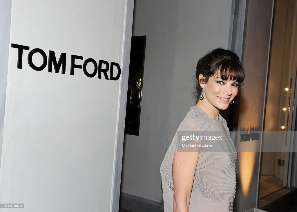 Actress Michelle Monaghan arrives at the TOM FORD store opening at TOM FORD Beverly Hills on February 24 2011 in Beverly Hills California
