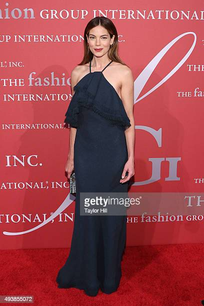 Actress Michelle Monaghan attends Fashion Group International's 2015 Night of Stars The Revolutionaries at Cipriani Wall Street on October 22 2015 in...