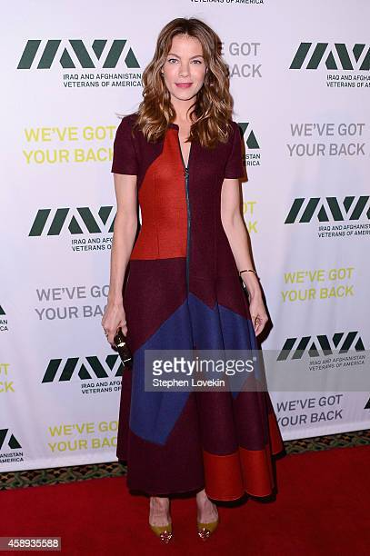 Actress Michelle Monaghan attends Iraq and Afghanistan Veterans of America 10th Anniversary Heroes Gala on November 13 2014 in New York City