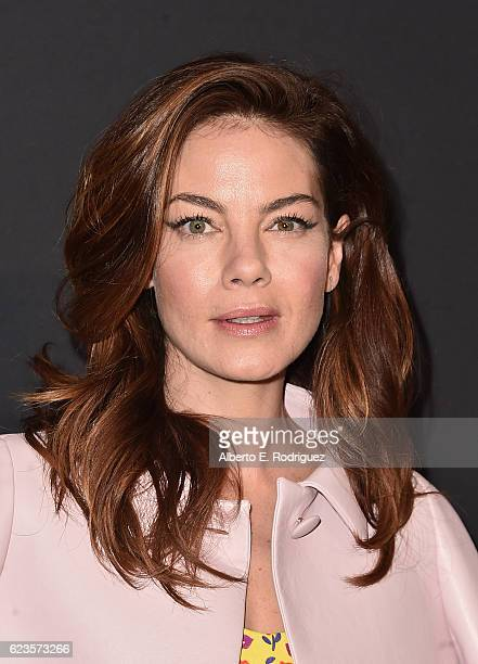 Actress Michelle Monaghan attends Prada Presents 'Past Forward' by David O Russell premiere at Hauser Wirth Schimmel on November 15 2016 in Los...