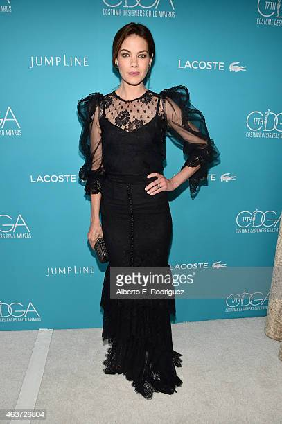 Actress Michelle Monaghan attends the 17th Costume Designers Guild Awards with presenting sponsor Lacoste at The Beverly Hilton Hotel on February 17...