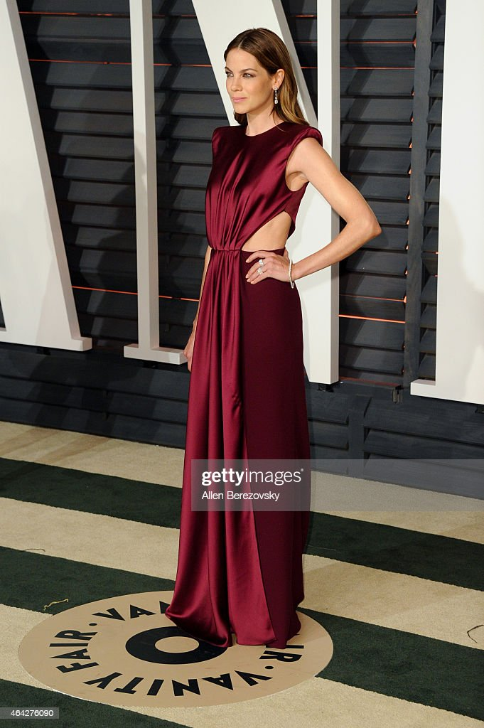 Actress Michelle Monaghan attends the 2015 Vanity Fair Oscar Party hosted by Graydon Carter at Wallis Annenberg Center for the Performing Arts on February 22, 2015 in Beverly Hills, California.