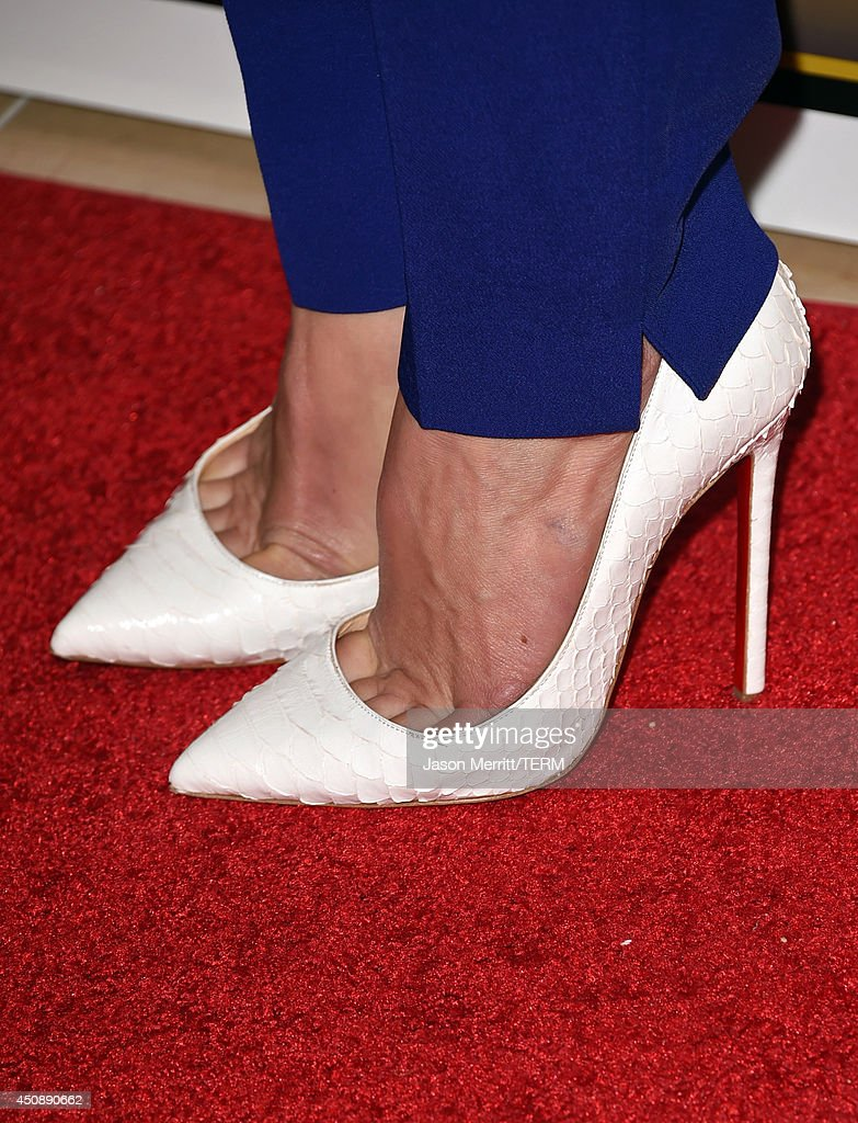 Actress Michelle Monaghan (shoe deatil) attends the 4th Annual Critics' Choice Television Awards at The Beverly Hilton Hotel on June 19, 2014 in Beverly Hills, California.