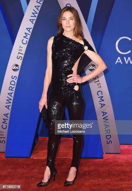 Actress Michelle Monaghan attends the 51st annual CMA Awards at the Bridgestone Arena on November 8 2017 in Nashville Tennessee