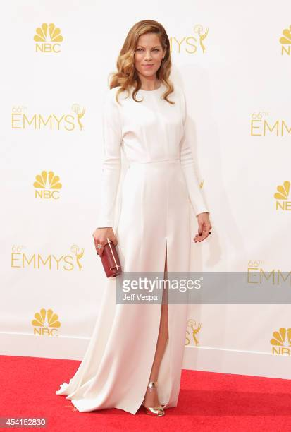 Actress Michelle Monaghan attends the 66th Annual Primetime Emmy Awards held at Nokia Theatre LA Live on August 25 2014 in Los Angeles California