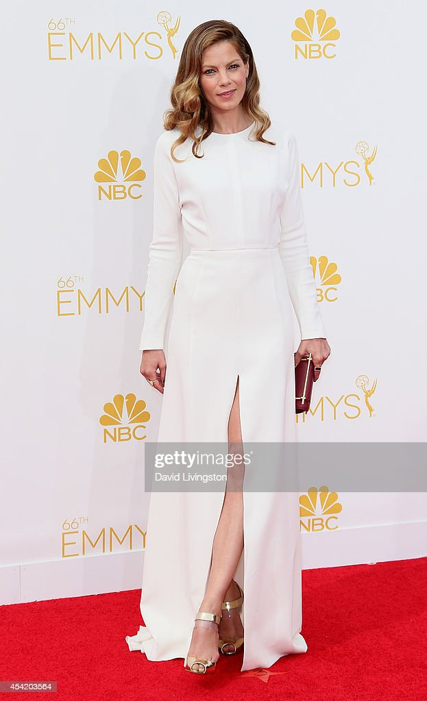 Actress <a gi-track='captionPersonalityLinkClicked' href=/galleries/search?phrase=Michelle+Monaghan&family=editorial&specificpeople=213746 ng-click='$event.stopPropagation()'>Michelle Monaghan</a> attends the 66th Annual Primetime Emmy Awards at the Nokia Theatre L.A. Live on August 25, 2014 in Los Angeles, California.