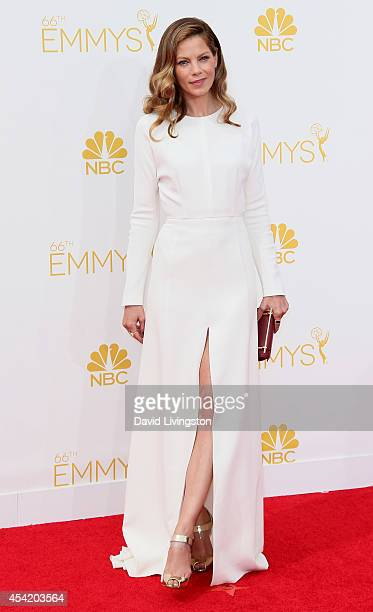 Actress Michelle Monaghan attends the 66th Annual Primetime Emmy Awards at the Nokia Theatre LA Live on August 25 2014 in Los Angeles California