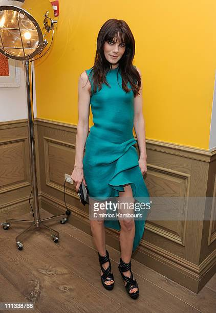 Actress Michelle Monaghan attends the after party for the Cinema Society Coach screening of 'Source Code' at the Crosby Street Hotel on March 31 2011...