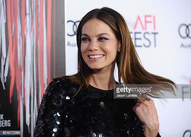 Actress Michelle Monaghan attends the closing night gala screening of 'Patriots Day' at the 2016 AFI Fest at TCL Chinese Theatre on November 17 2016...
