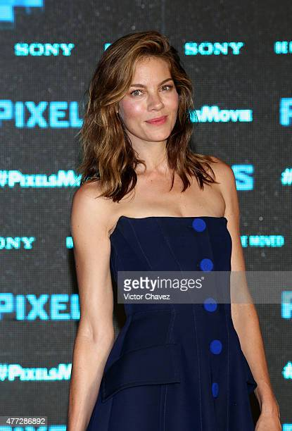 Actress Michelle Monaghan attends the 'Pixels' photo call during Summer Of Sony Pictures Entertainment 2015 at The RitzCarlton Cancun on June 15 2015...