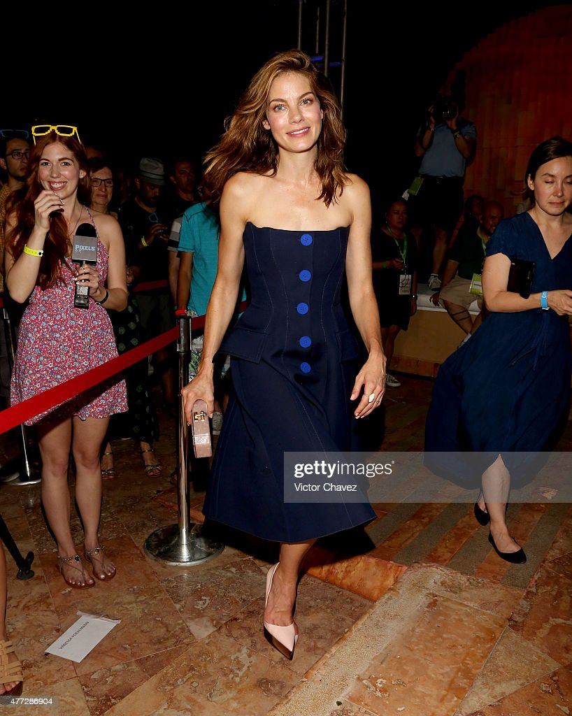 Actress Michelle Monaghan attends the 'Pixels' photo call during Summer Of Sony Pictures Entertainment 2015 at The Ritz-Carlton Cancun on June 15, 2015 in Cancun, Mexico. #SummerOfSonyPictures #PixelsMovie