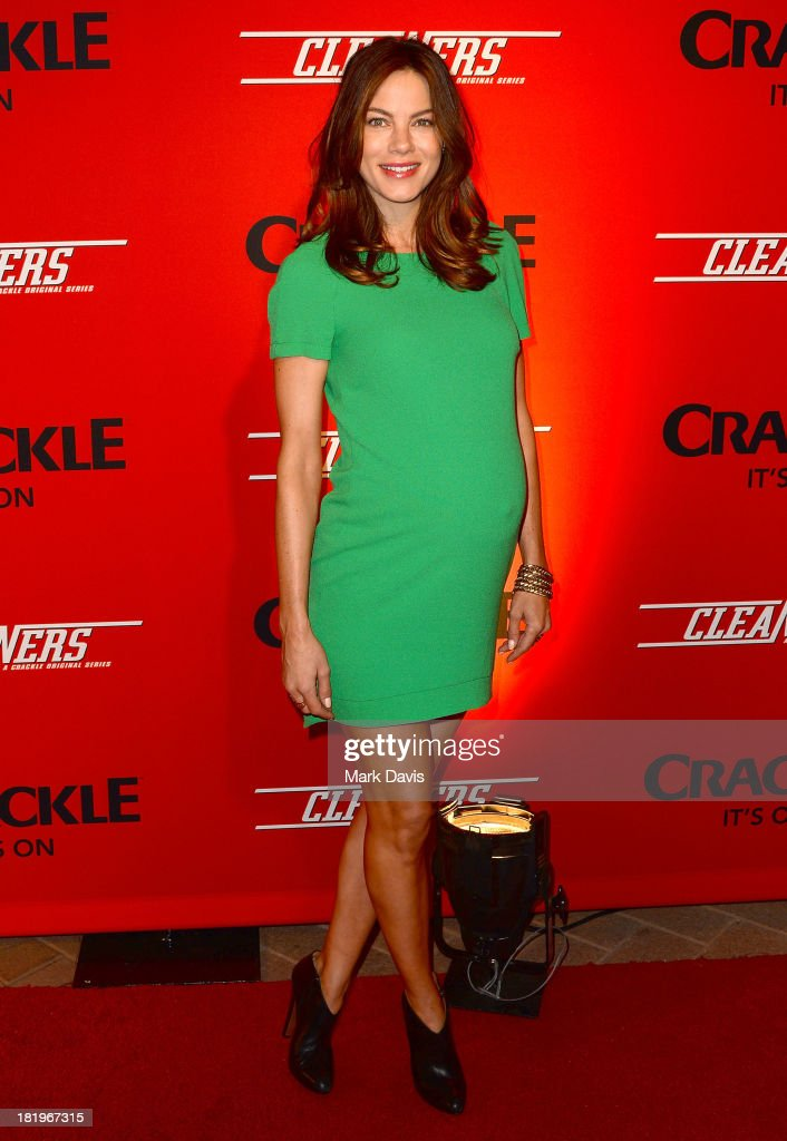 Actress <a gi-track='captionPersonalityLinkClicked' href=/galleries/search?phrase=Michelle+Monaghan&family=editorial&specificpeople=213746 ng-click='$event.stopPropagation()'>Michelle Monaghan</a> attends the premiere of Crackle's new original digital series 'Cleaners' held at the Cary Grant Theater on September 26, 2013 in Culver City, California.