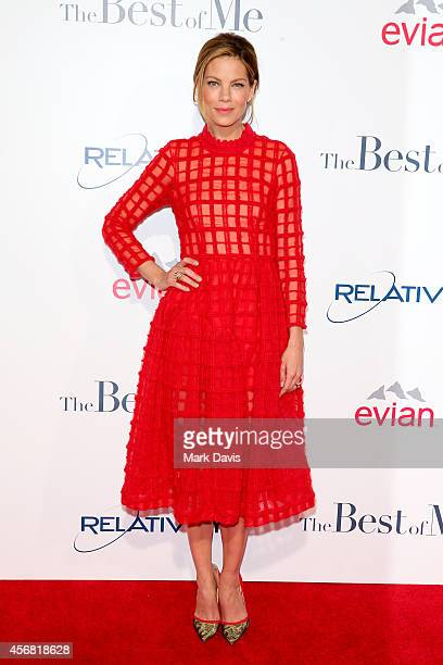 Actress Michelle Monaghan attends the premiere of Relativity Studios' 'The Best Of Me' at Regal Cinemas LA Live on October 7 2014 in Los Angeles...